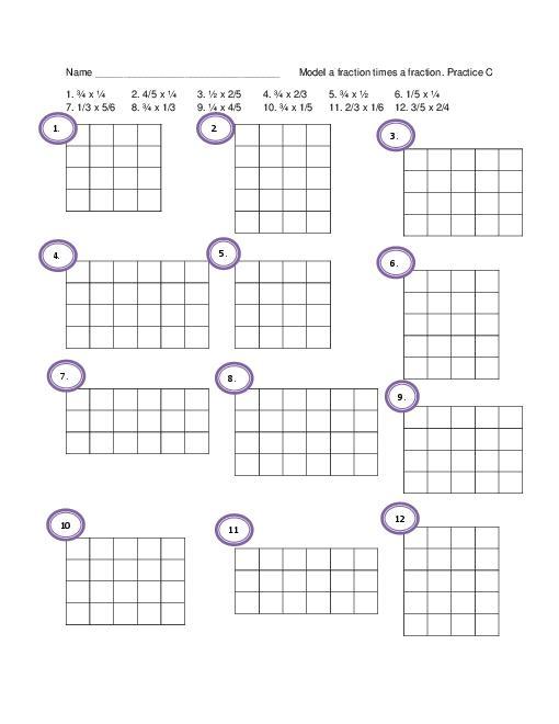 Area Model Multiplication Worksheets Grade 4 512645