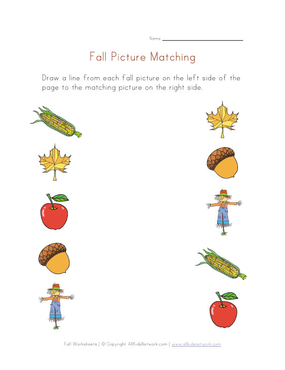 Autumn Worksheets For Preschool 957064