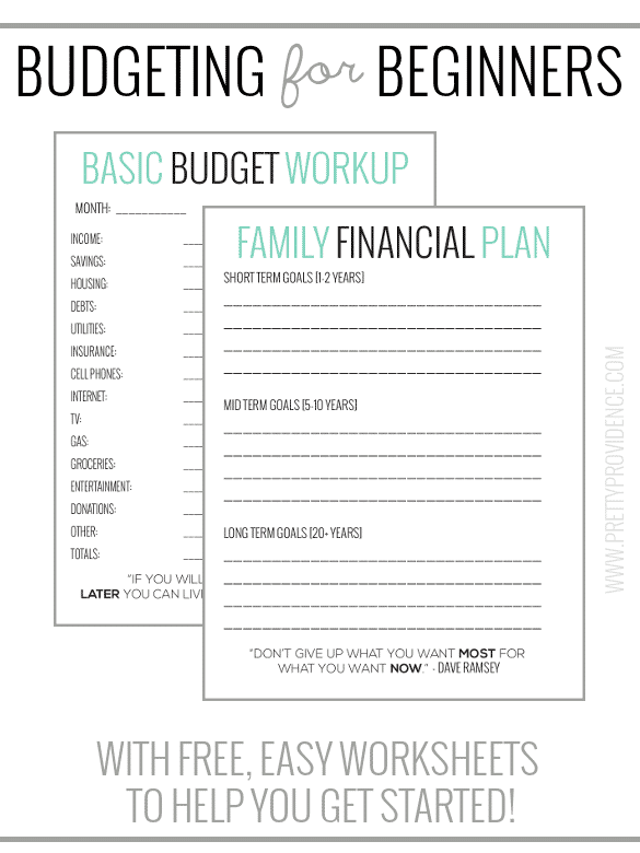 Basic Budgeting Worksheet