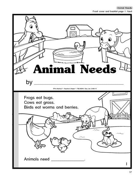 Basic Needs Of Animals Worksheet The Best Worksheets Image