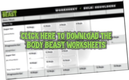 Body Beast Worksheets Pdf Download