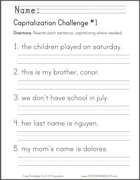 Capitalization Challenge  1