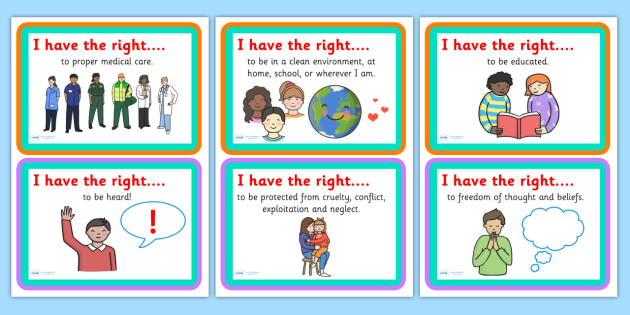 Captivating Uncrc Worksheets On I Have The Right Discussion Cards