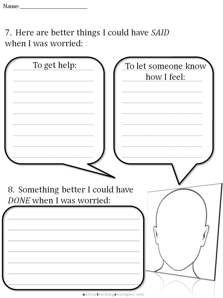 Cbt Childrens Emotion Worksheet Series  7 Worksheets For, Cbt