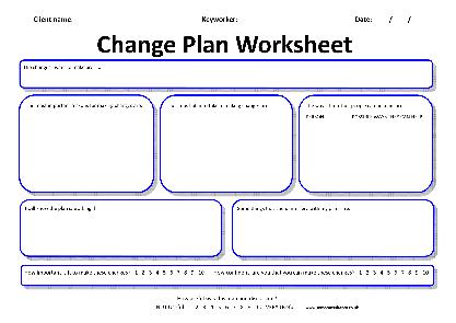 Change Plan Worksheet The Best Worksheets Image Collection
