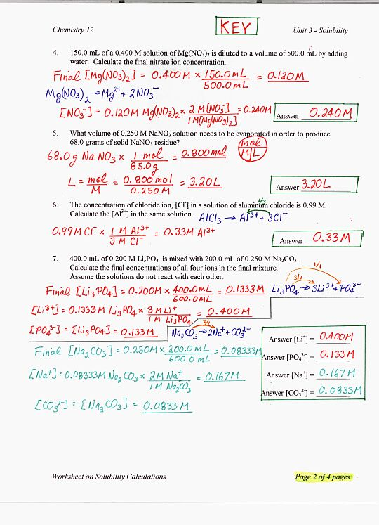 Chemistry Solutions Worksheet The Best Worksheets Image Collection