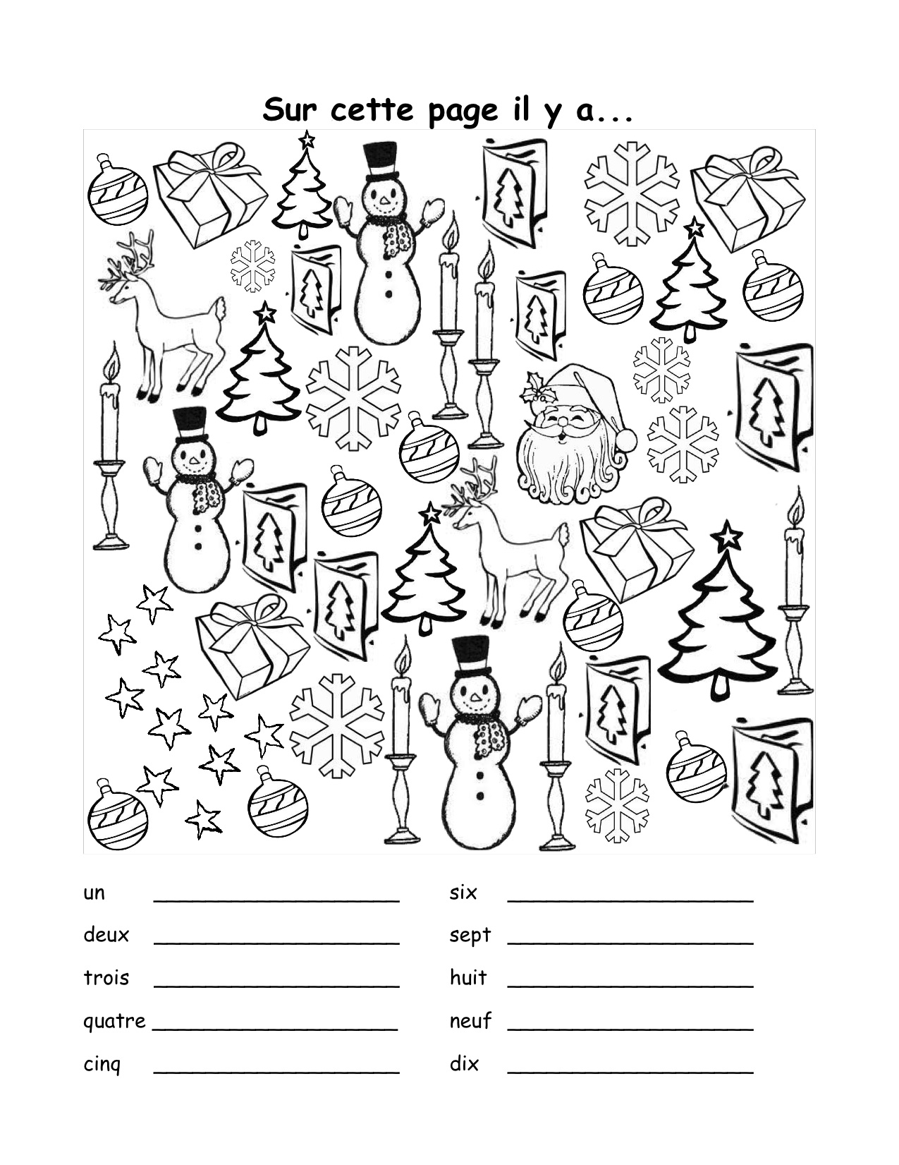 Christmas Worksheet In French 614923