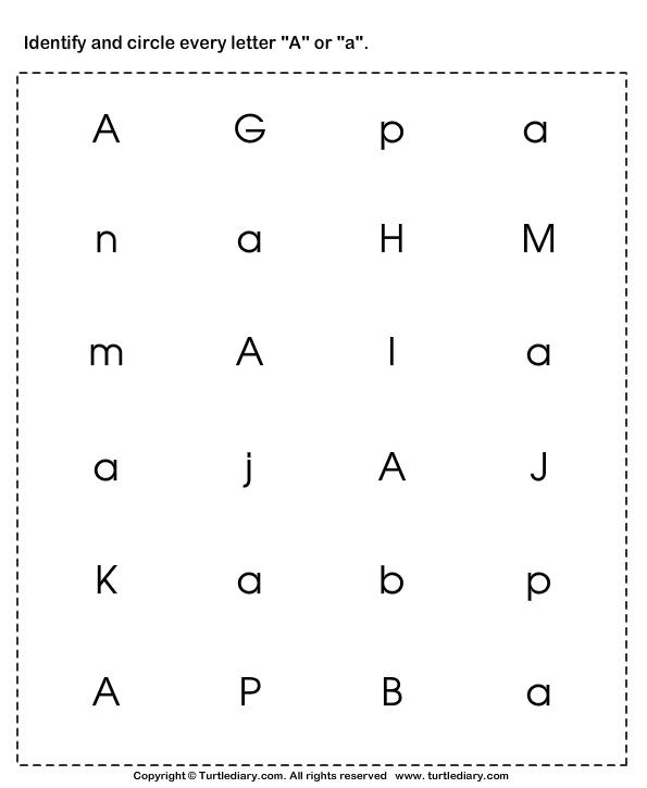 Circle The Correct Capital Letter Worksheets For Kindergarten