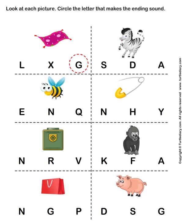 Circle The Correct Letter Worksheets For Kindergarten  784588