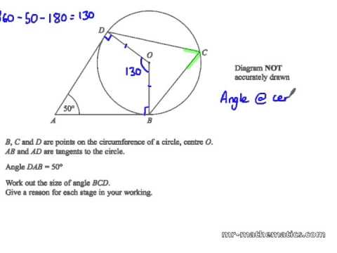 Circle Theorems Worksheet And Answers