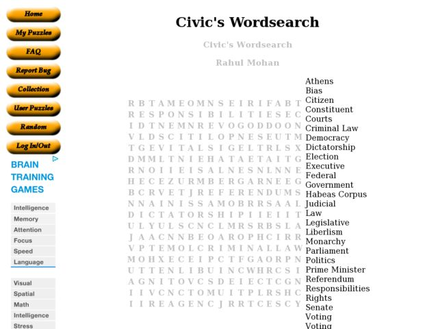 Civics Worksheets 444673