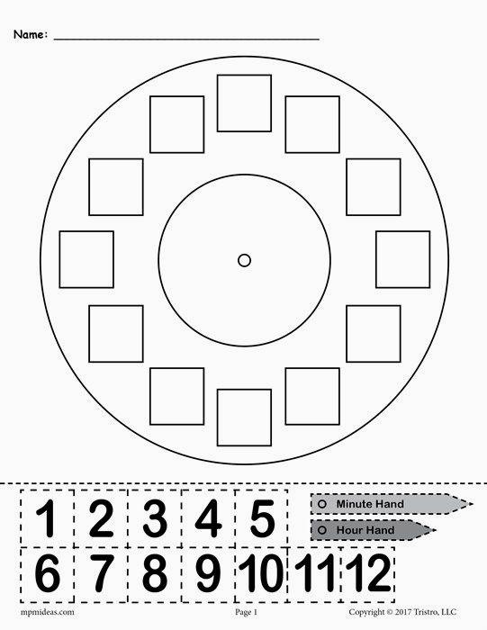 Clock Fractions Worksheet  2345476