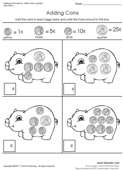 Coin Worksheets 2nd Grade The Best Worksheets Image Collection