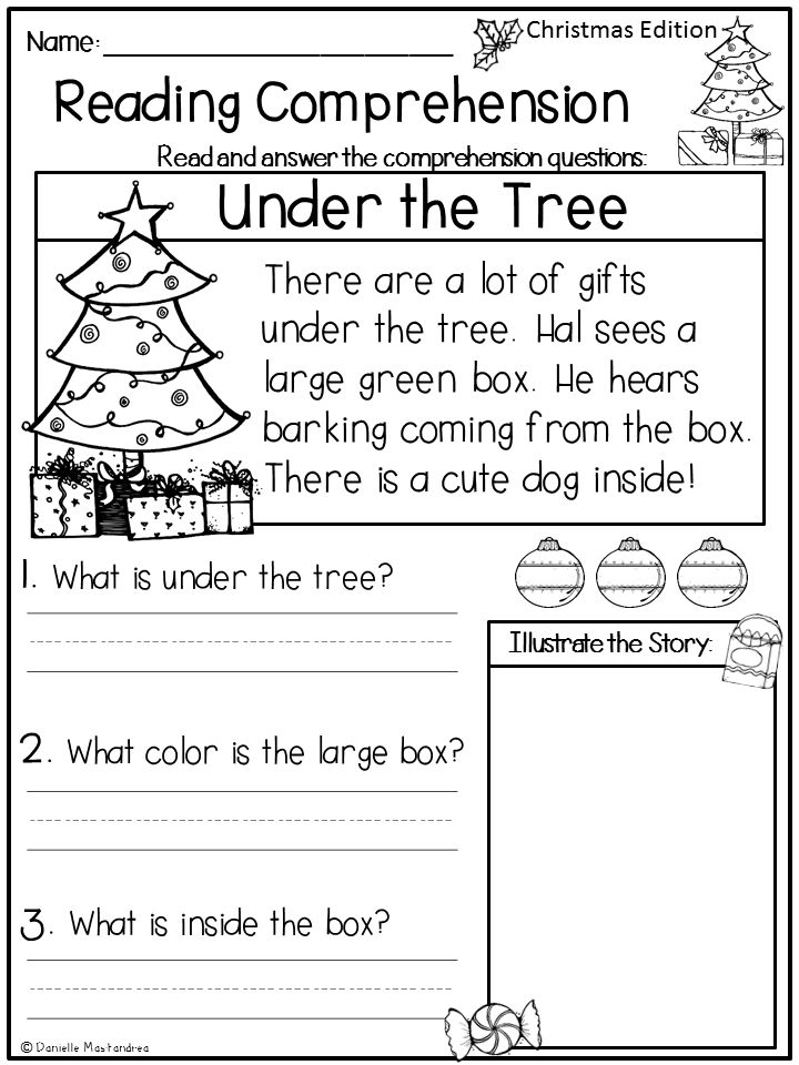 Collection Of 1st Grade Christmas Worksheets