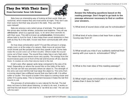 Collection Of 4th Grade Reading Worksheets