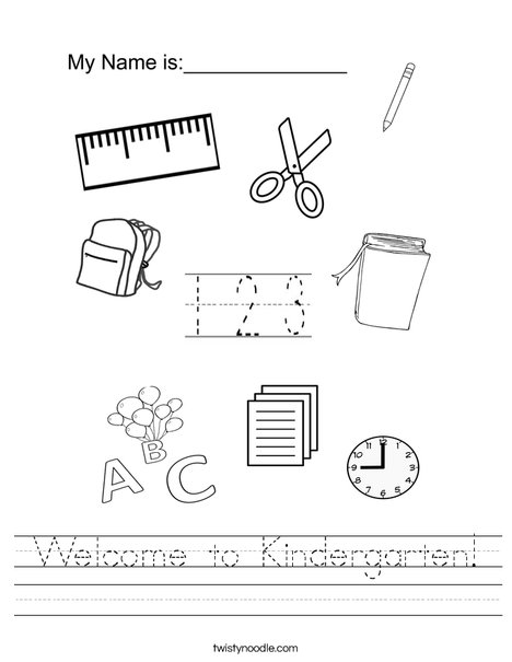 Collection Of Back To School Kindergarten Math Worksheets