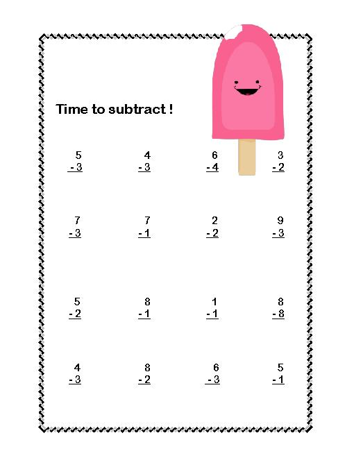 Collection Of Basic Math Facts Worksheets For First Grade
