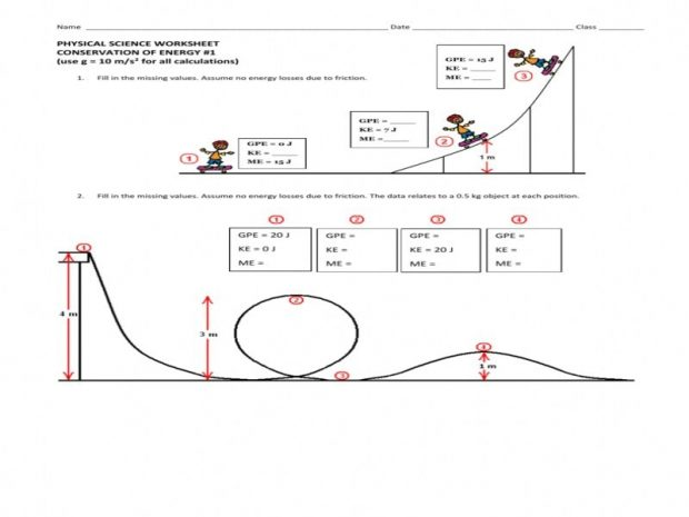 Collection Of Conservation Of Energy Worksheet With Answers