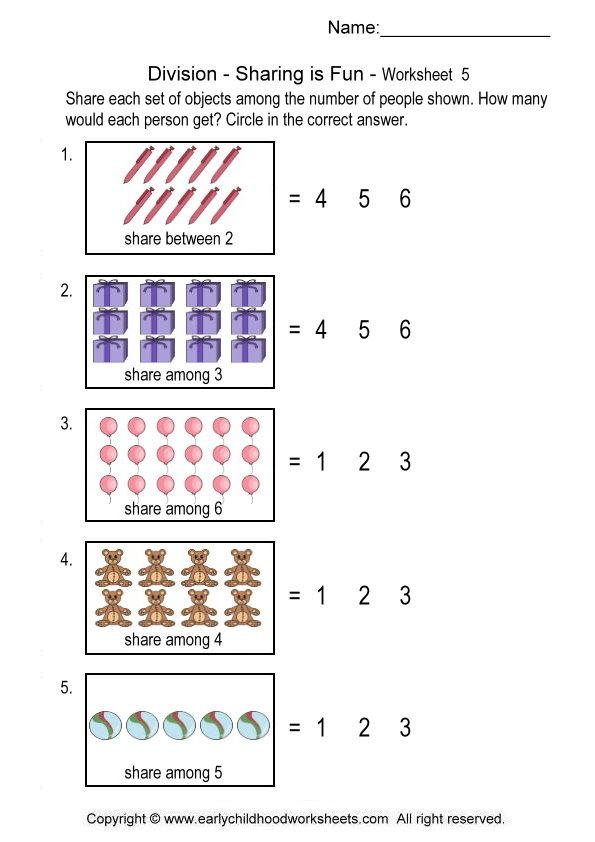 Collection Of Division Through Sharing Worksheets