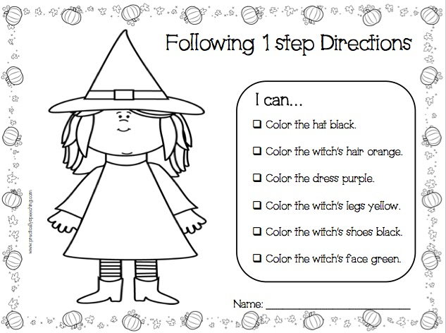 Collection Of Following Directions Worksheet For Kindergarten