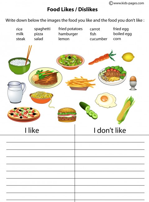 Collection Of Food Worksheets For Preschool Pdf
