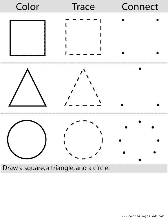 Collection Of Free Printable Worksheets Of Shapes For Preschool