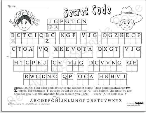 Collection Of Math Secret Code Worksheets