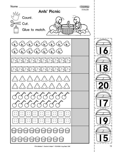 Collection Of Math Worksheets Counting 11 20