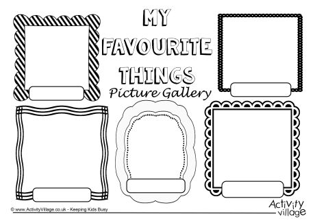 Collection Of My Favorite Things Worksheet
