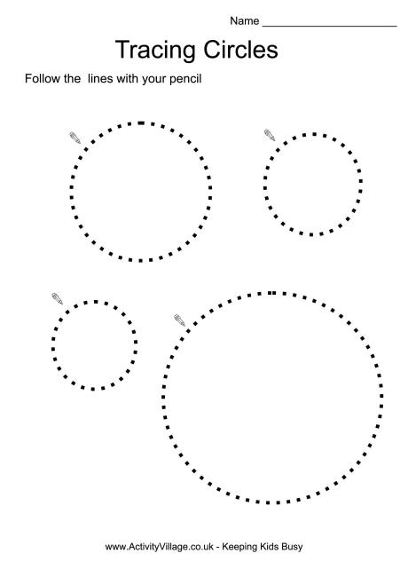 Collection Of Preschool Worksheets Tracing Circles