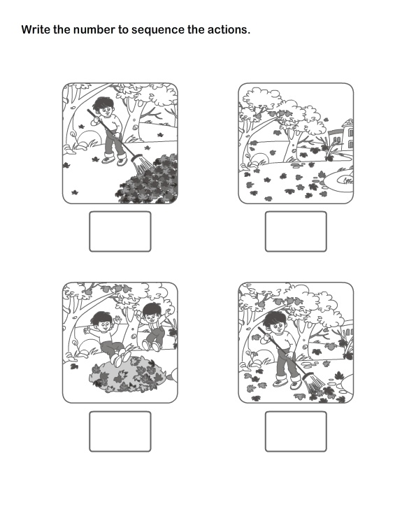 Collection Of Sequence Writing Worksheets For Kindergarten