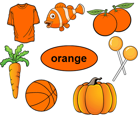 Color Orange Worksheets For Kindergarten
