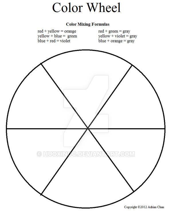 Color Wheel Worksheet By Huoxingc On Deviantart