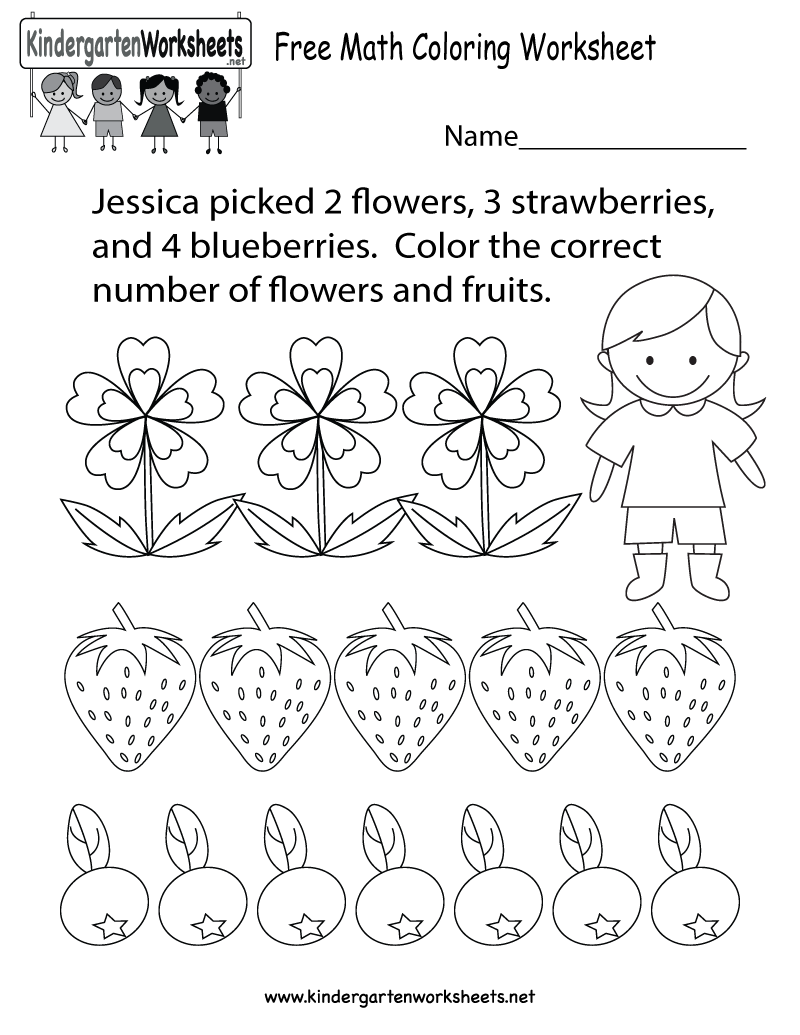 Coloring Pages For Kindergarten Math 149728
