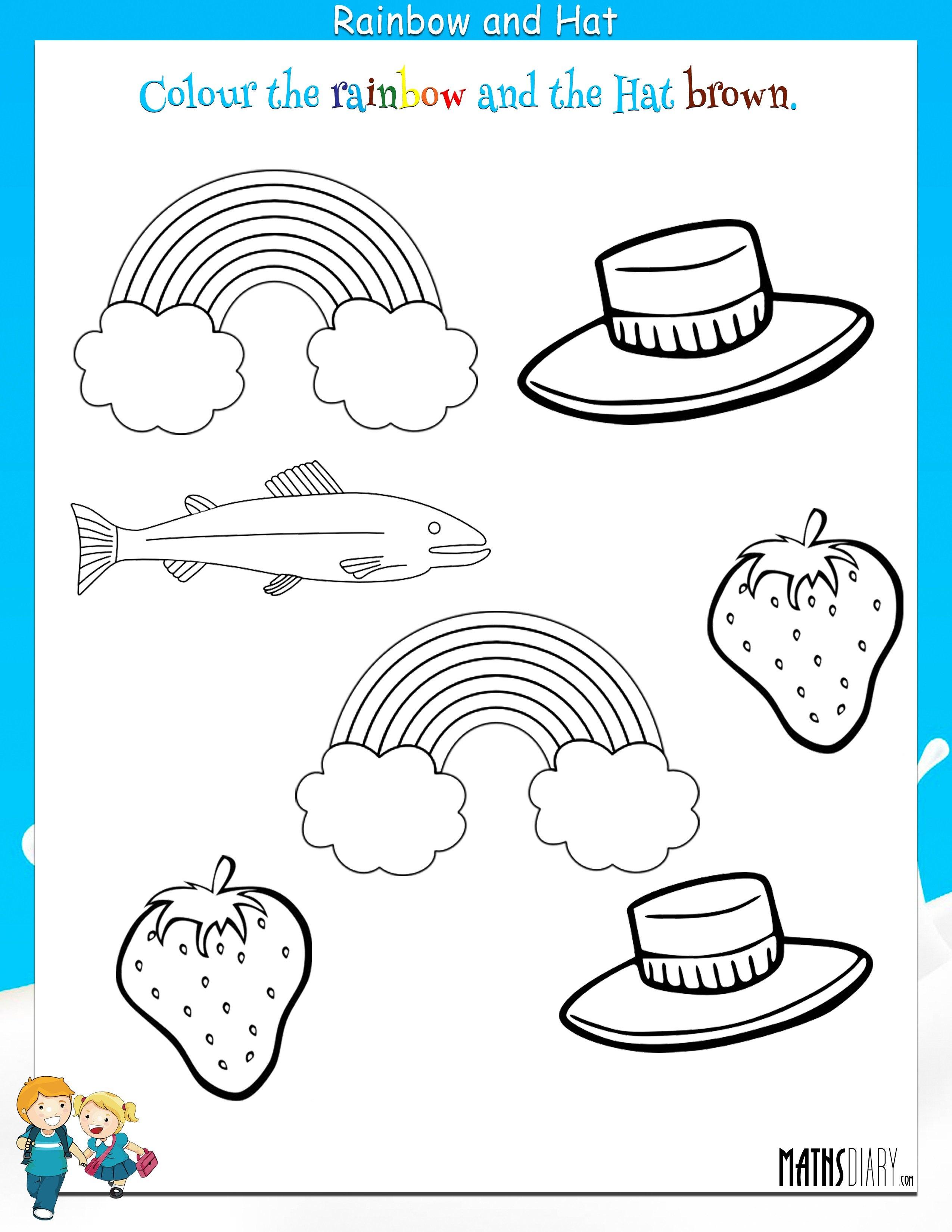 Colour Worksheets For Kindergarten  718736