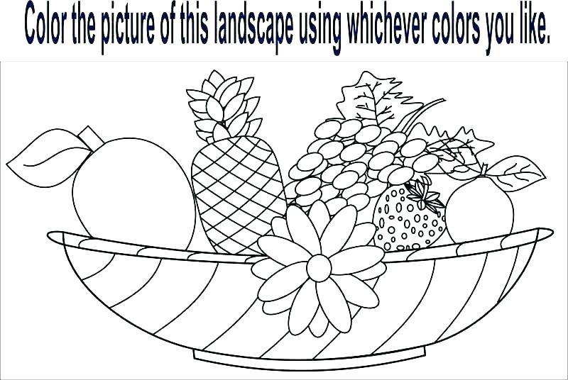 Colouring Fruits Worksheets Fruit For Coloring Pages Of Fruits And
