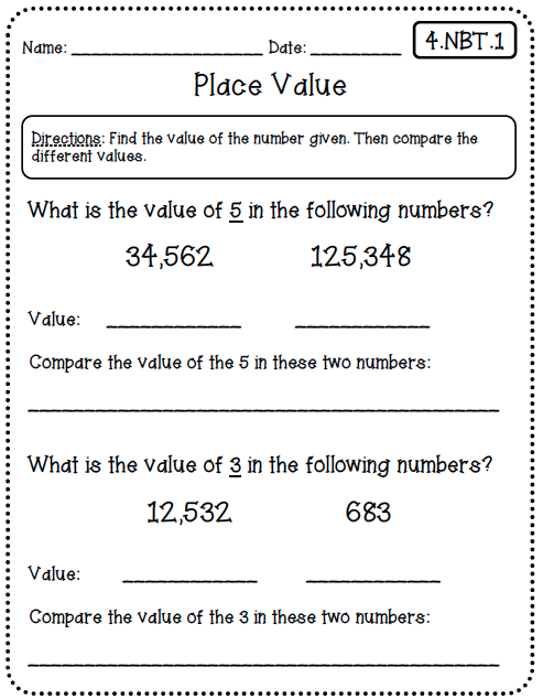 Common Core Math Worksheets (for All Standards) Create Teach