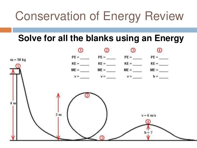 Conservation Of Energy Worksheet With Answers 694178