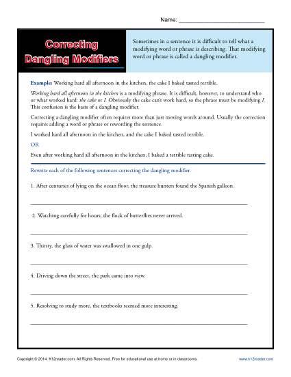 Correcting Dangling Modifiers