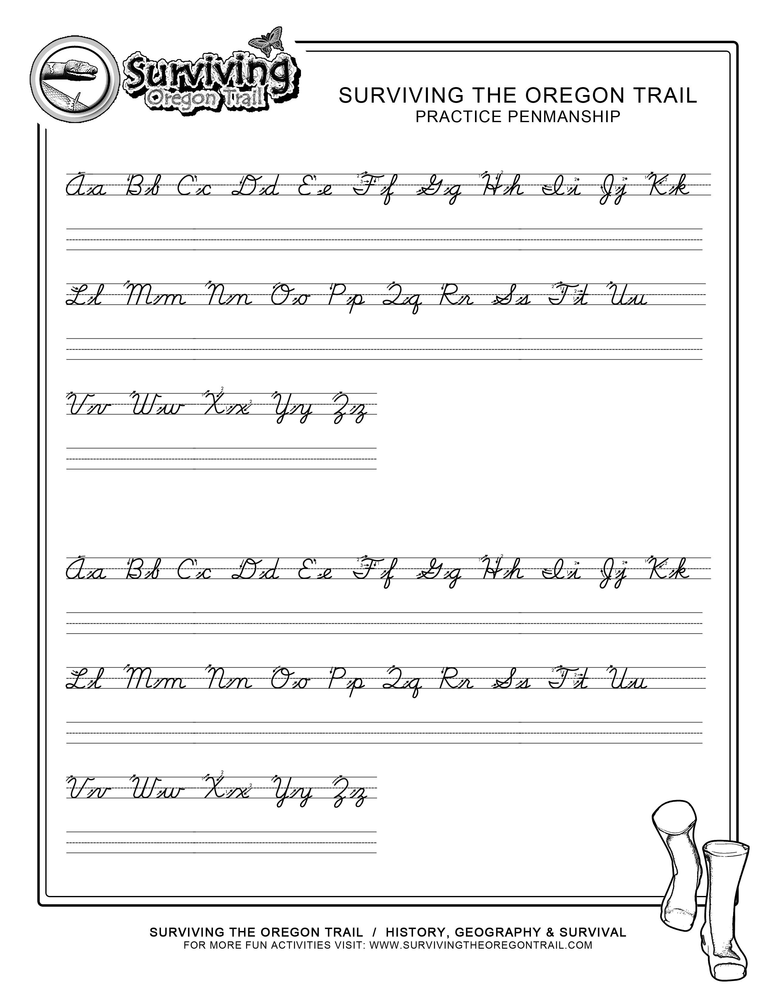 Cursive Handwriting Worksheets Printable A Z  1248379
