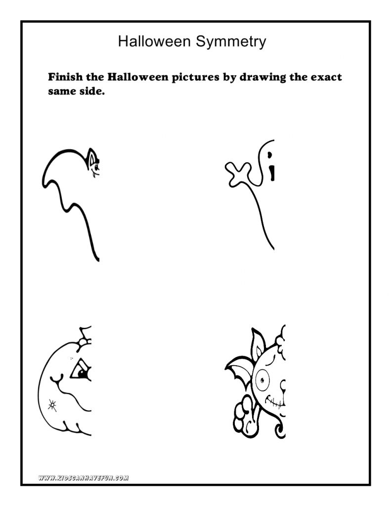 Cut And Paste Halloween Worksheets For Kindergarten 1250343