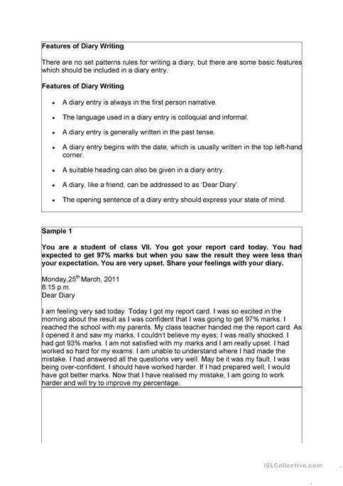 Dairy Writing Worksheet