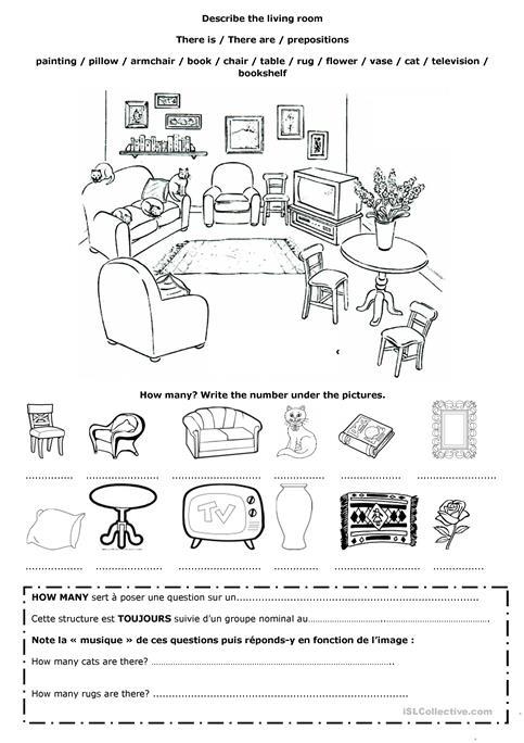 Describe The Living Room Worksheet