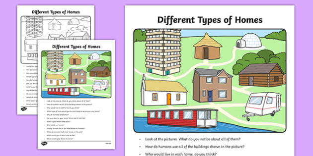 Different Types Of Homes Oral Language Worksheet   Activity