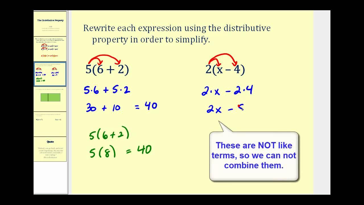 Distributive Property For 5th Grade Scalien, Distributive Property