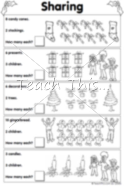 Division By Sharing Worksheets 670027
