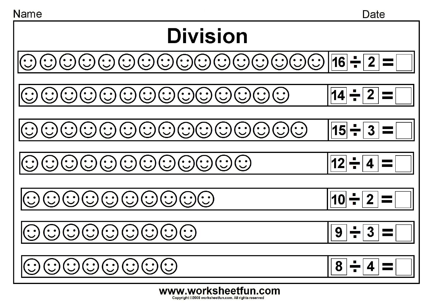 Division Worksheets 2nd Grade 515704