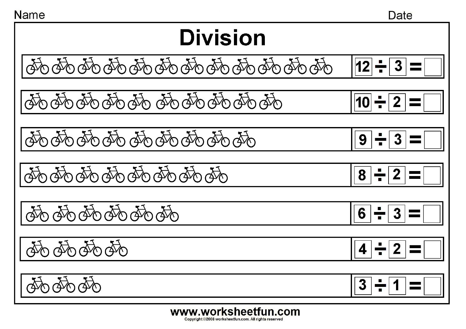 Division Worksheets Second Grade 544389