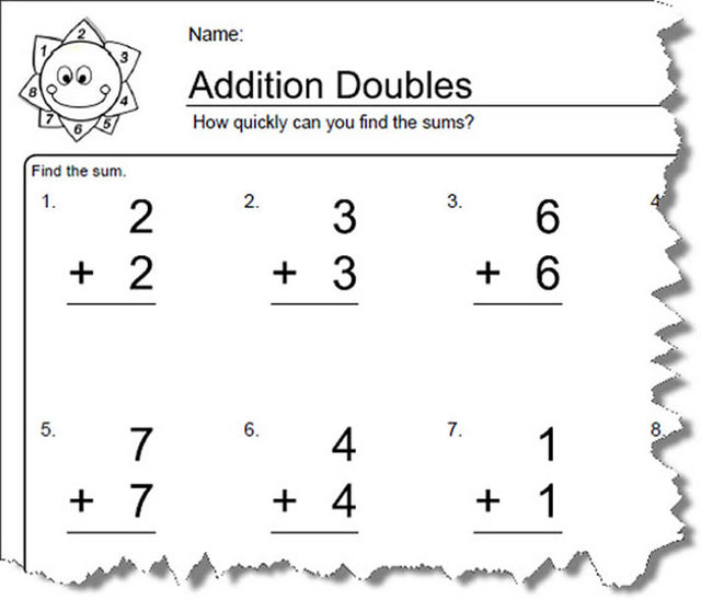 Doubles Worksheets First Grade The Best Worksheets Image