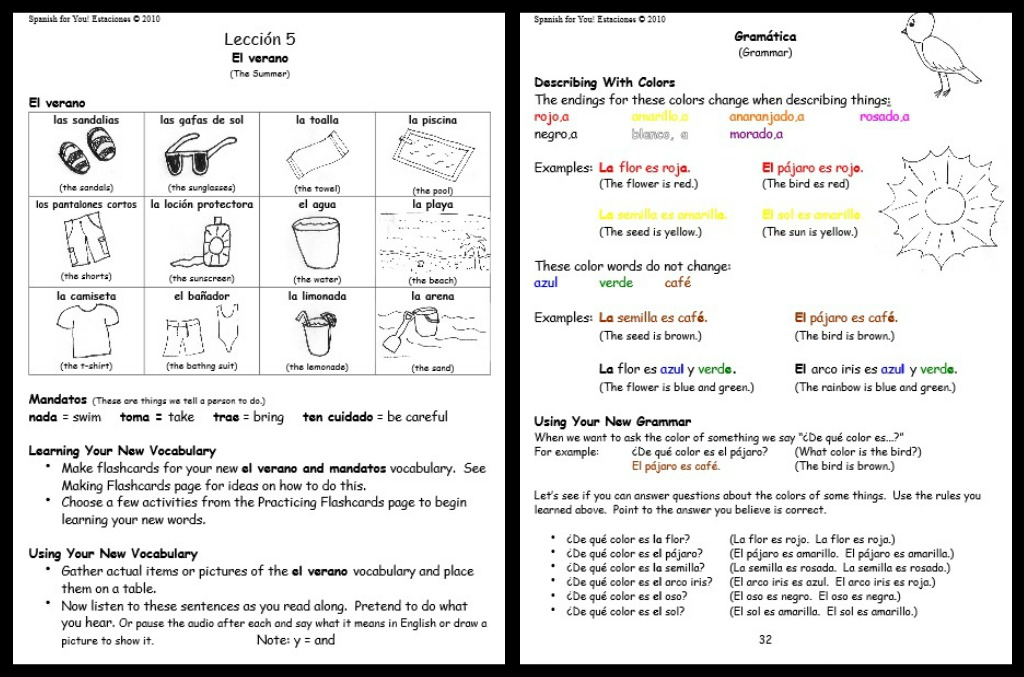 Elementary Math Worksheets In Spanish 1151621